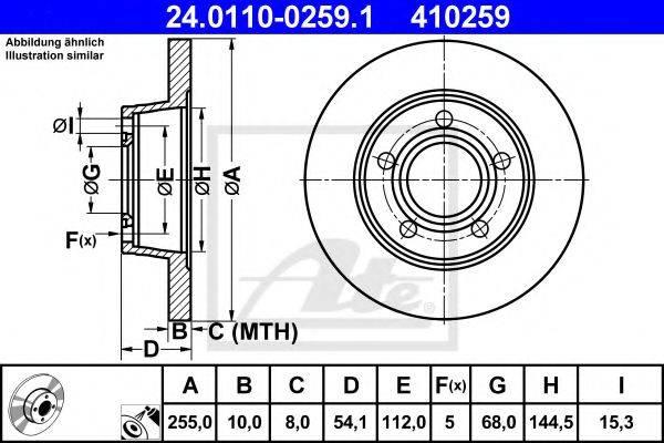ATE 24011002591 Тормозной диск