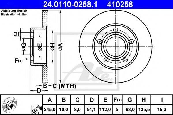 ATE 24011002581 Тормозной диск