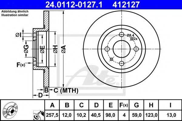 ATE 24011201271 Тормозной диск