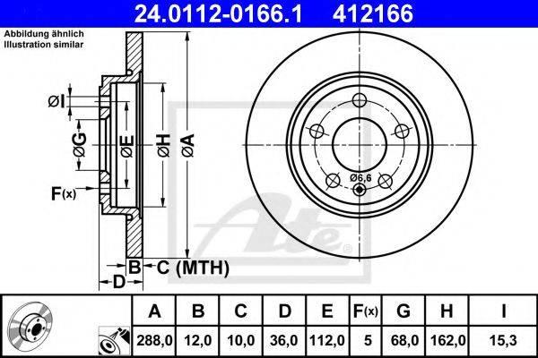 ATE 24011201661 Тормозной диск