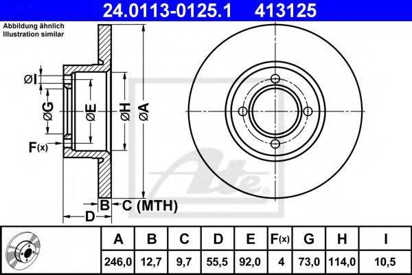 ATE 24011301251 Тормозной диск
