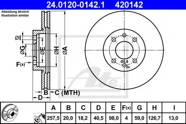 ATE 24012001421 Тормозной диск