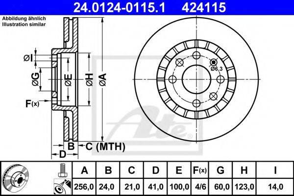 ATE 24012401151 Тормозной диск