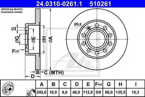 ATE 24031002611 Тормозной диск