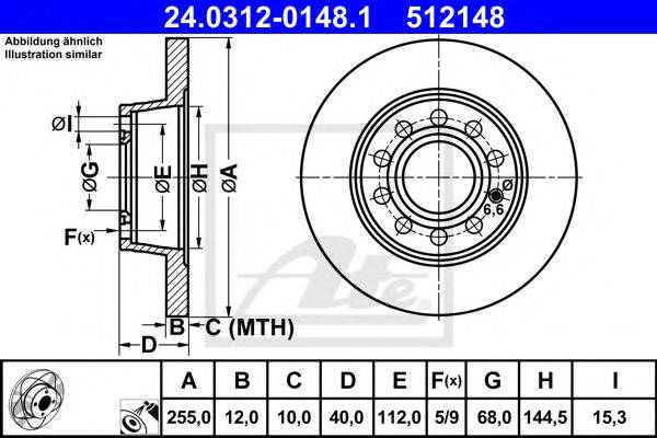 ATE 24031201481 Тормозной диск