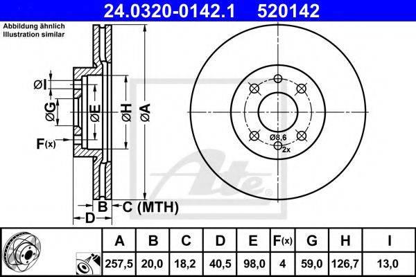 ATE 24032001421 Тормозной диск