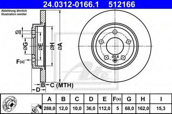 ATE 24031201661 Тормозной диск