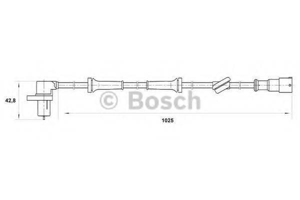 BOSCH 0265006197 Датчик, частота вращения колеса
