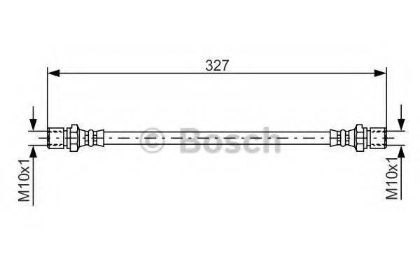 BOSCH 1987476017 Тормозной шланг