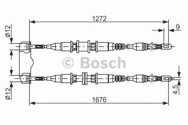 BOSCH 1987477136 Трос, стояночная тормозная система