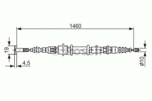 BOSCH 1987477375 Трос, стояночная тормозная система