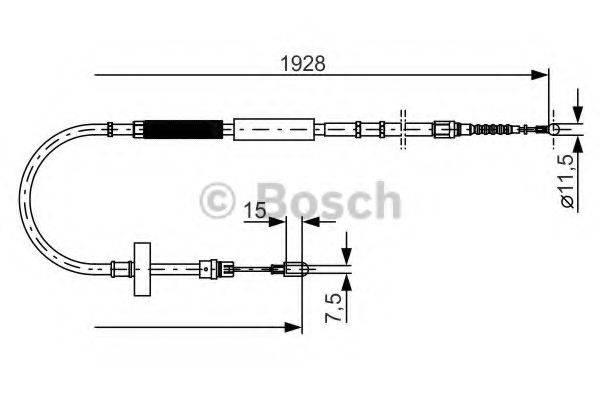 BOSCH 1987477922 Трос, стояночная тормозная система