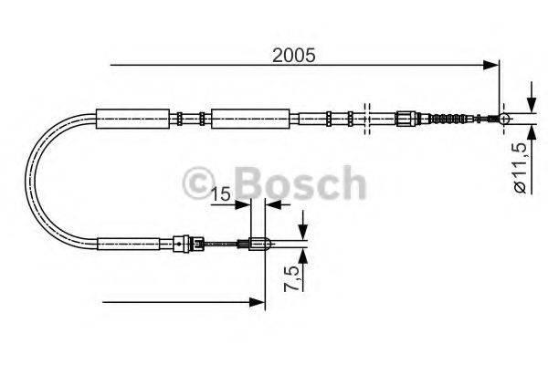 BOSCH 1987477923 Трос, стояночная тормозная система