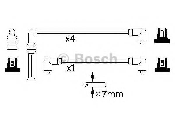 BOSCH 0986357139 Комплект проводов зажигания