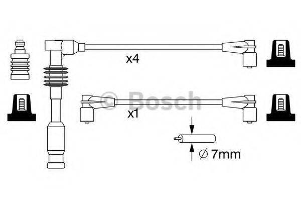 BOSCH 0986357227 Комплект проводов зажигания