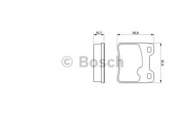 BOSCH 0986460955 Комплект тормозных колодок, дисковый тормоз