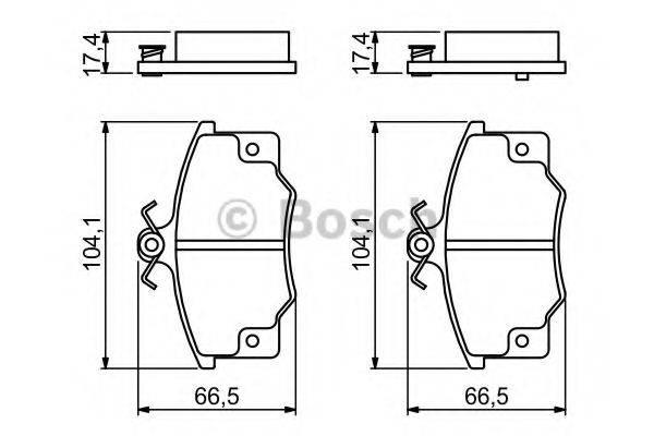 BOSCH 0986468380 Комплект тормозных колодок, дисковый тормоз
