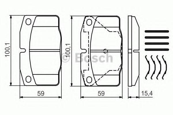BOSCH 0986469390 Комплект тормозных колодок, дисковый тормоз
