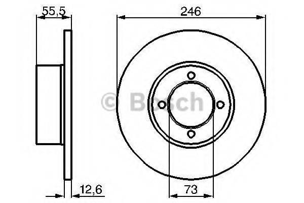 BOSCH 0986478082 Тормозной диск
