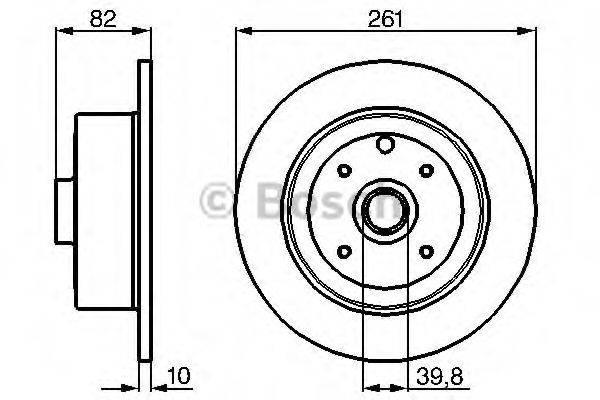 BOSCH 0986478328 Тормозной диск