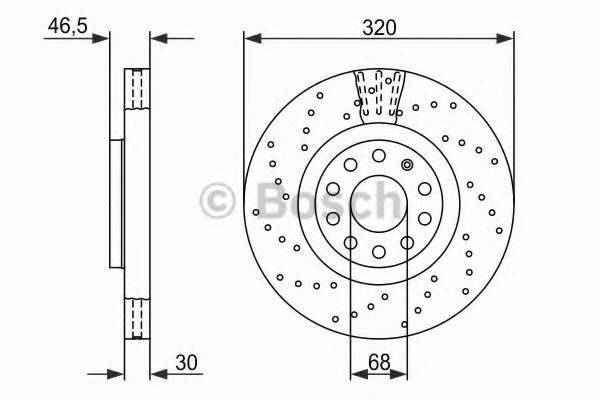 BOSCH 0986479258 Тормозной диск