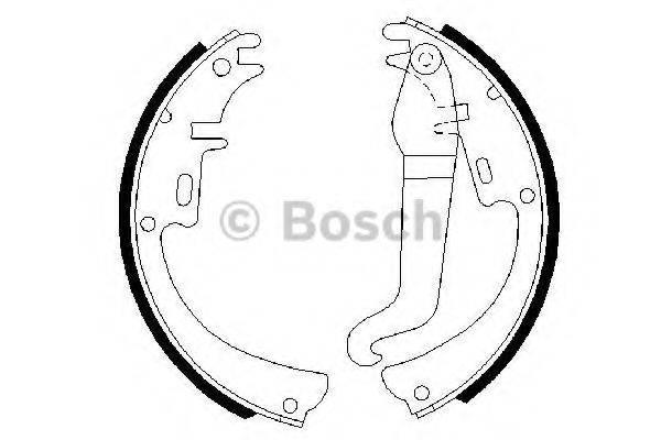 BOSCH 0986487072 Комплект тормозных колодок