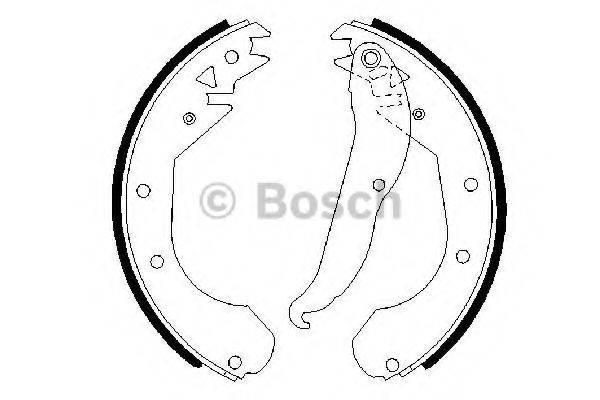 BOSCH 0986487201 Комплект тормозных колодок