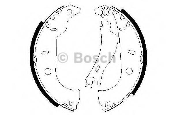 BOSCH 0986487255 Комплект тормозных колодок