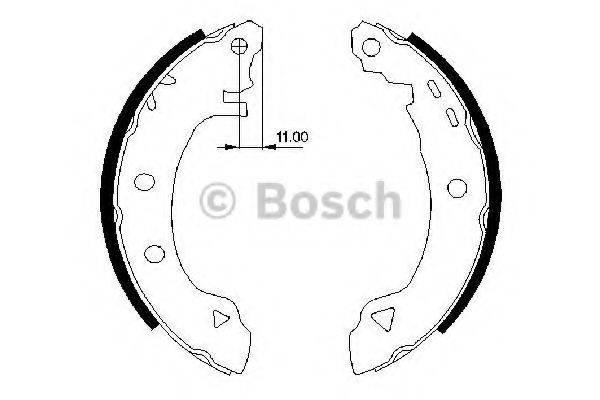 BOSCH 0986487295 Комплект тормозных колодок