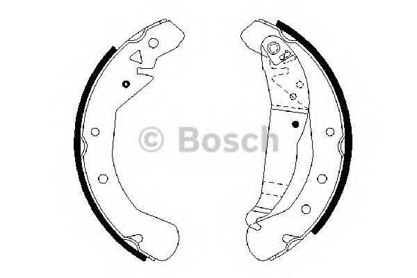 BOSCH 0986487658 Комплект тормозных колодок