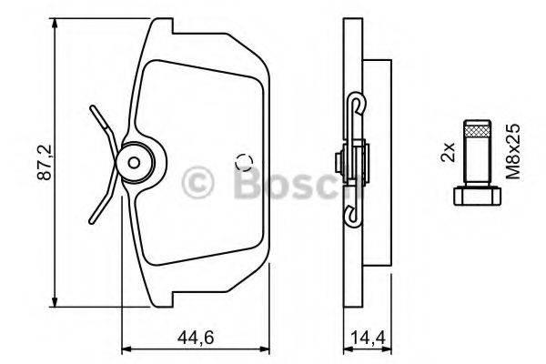 BOSCH 0986491030 Комплект тормозных колодок, дисковый тормоз