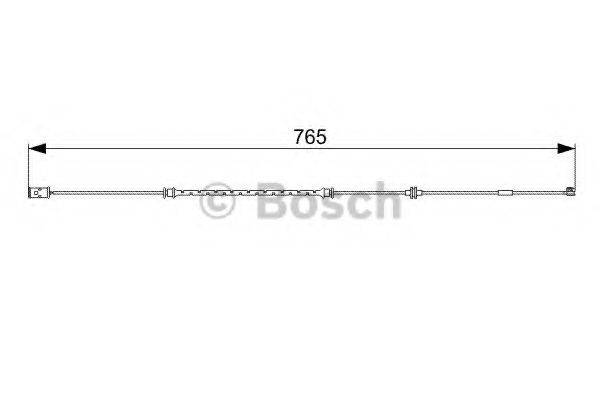 BOSCH 1987473018 Сигнализатор, износ тормозных колодок