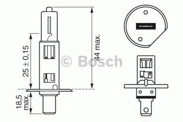 BOSCH 1987302013 Лампа накаливания, фара дальнего света; Лампа накаливания, основная фара; Лампа накаливания, противотуманная фара