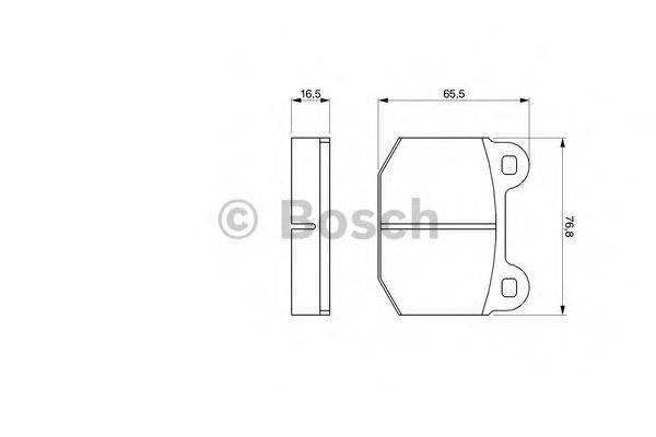 BOSCH 0986463232 Комплект тормозных колодок, дисковый тормоз