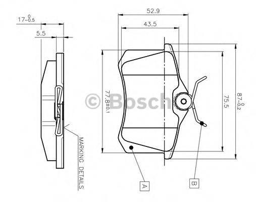 BOSCH 0986TB2139 Комплект тормозных колодок, дисковый тормоз