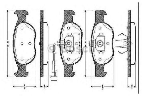 BOSCH 0986TB2285 Комплект тормозных колодок, дисковый тормоз