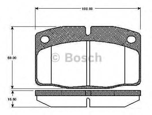 BOSCH 0986TB2003 Комплект тормозных колодок, дисковый тормоз