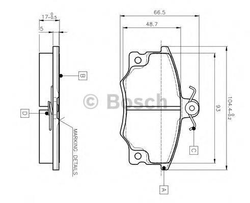 BOSCH 0986TB2006 Комплект тормозных колодок, дисковый тормоз