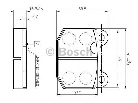 BOSCH 0986TB2052 Комплект тормозных колодок, дисковый тормоз