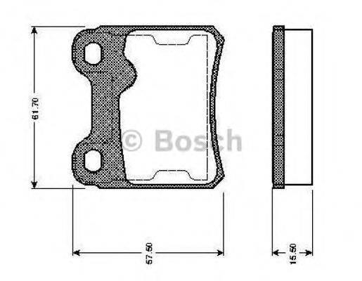 BOSCH 0986TB2158 Комплект тормозных колодок, дисковый тормоз