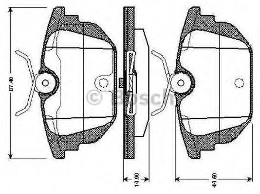 BOSCH 0986TB2780 Комплект тормозных колодок, дисковый тормоз