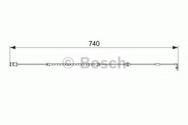 Сигнализатор, износ тормозных колодок BOSCH 1 987 474 587