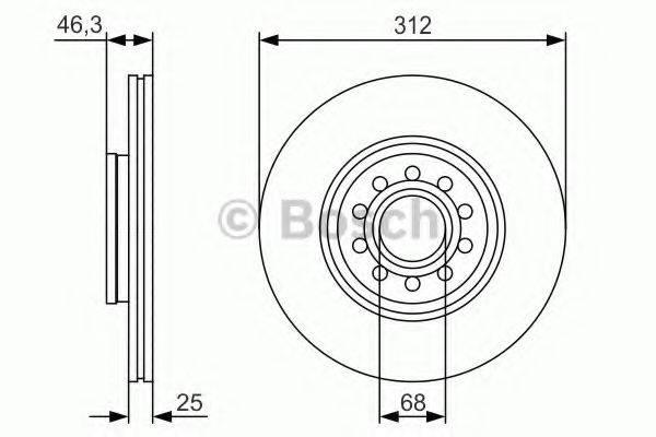 BOSCH 0986479S23 Тормозной диск