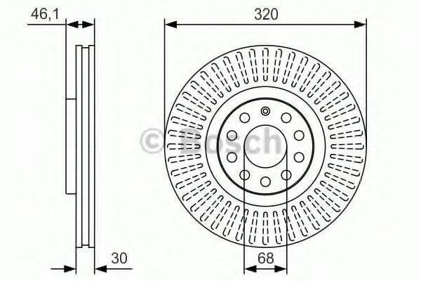 BOSCH 0986479S30 Тормозной диск
