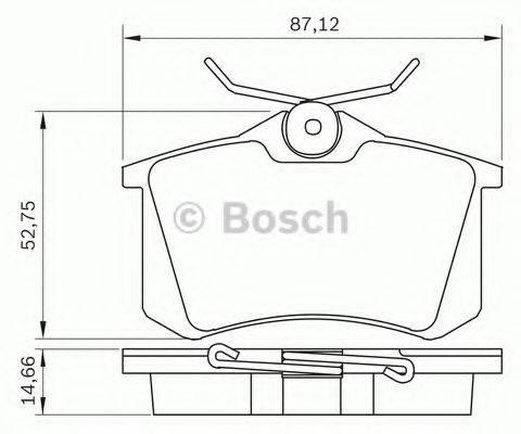 BOSCH 0986BB0290 Комплект тормозных колодок, дисковый тормоз