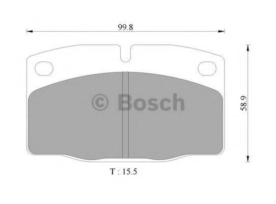 BOSCH 0986505242 Комплект тормозных колодок, дисковый тормоз