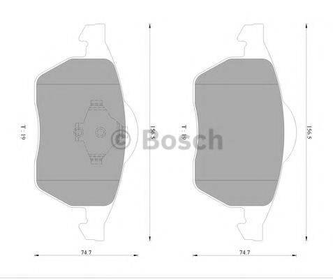 BOSCH 0986AB4552 Комплект тормозных колодок, дисковый тормоз