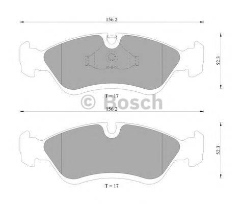 BOSCH 0986AB9202 Комплект тормозных колодок, дисковый тормоз
