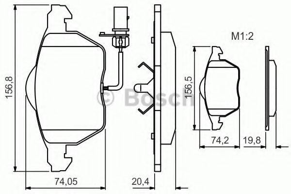 BOSCH 0986495241 Комплект тормозных колодок, дисковый тормоз