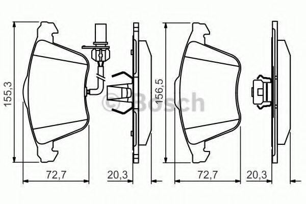 BOSCH 0986495272 Комплект тормозных колодок, дисковый тормоз
